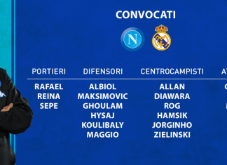 Convocati Napoli-Real Madrid