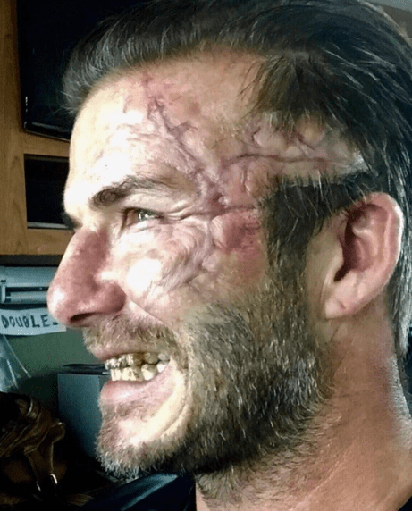 David Beckham irriconoscibile sul set di King Arthur di Guy Ritchie