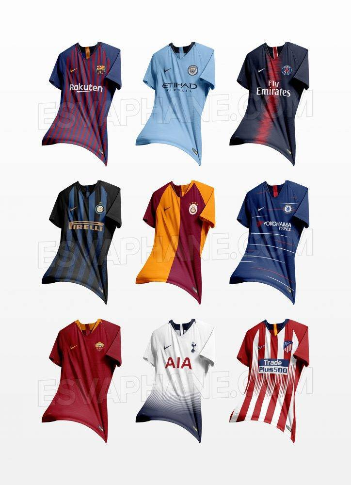 Nike Kit home 2019 Atletico Madrid, Barcellona Manchester City PSG Chelsea Galatasaray