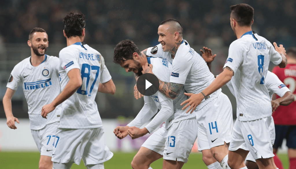 Inter Rapid Vienna 4-0: gol di Vecino, Ranocchia, Perisic e Politano (VIDEO)