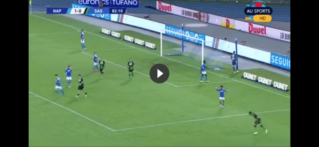 Napoli-Sassuolo 2-0: gol Hysaj e Allan (HIGHLIGHTS VIDEO)
